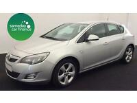 £129.38 PER MONTH SILVER 2010 VAUXHALL ASTRA 1.4 SRI 5 DOOR PETROL MANUAL