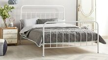 Queen 'Sunday' Bedframe - White Indooroopilly Brisbane South West Preview