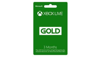 Microsoft Xbox Live 3 Month Gold Membership Code   360 One S Digital Key