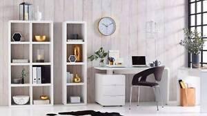 Like New Domayne Ace Cube White Bookshelf Bookcase