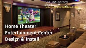 Home Theater Installation Service - TV Wall Mounting Cambridge Kitchener Area image 1
