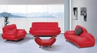 SOFA SET DRACULA BONDED LEATHER