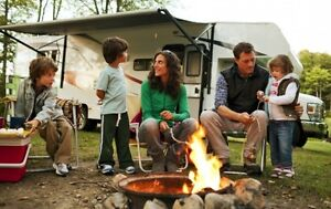 RV Trailer Tent Camping @ Liquor Friendly Camp Gr with Blue Lake