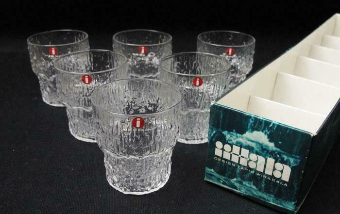 6x BOXED IITTALA FINLAND PAADAR SHOT LIQUEUR NIP GLASSES TAPIO WIRKKALA AS NEW