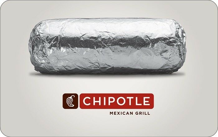 Chipotle Gift Card - 25, 50 Or 100 - Email Delivery  - $25.00
