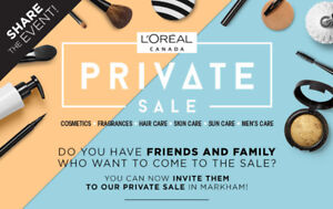 loreal pivate sale tickets 2018 October