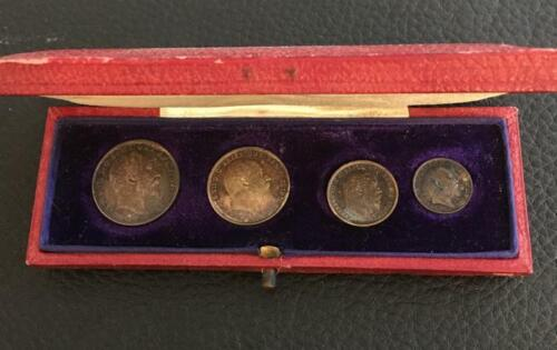 4 Coin Maundy Set 1908 Great Britian Estate Fresh Ungraded / Raw