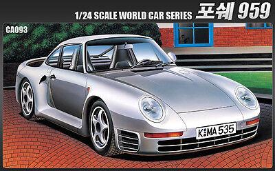 Academy 15103 1/24 PORCHE 959 World Car Series Diecast Plastic Model Kit New