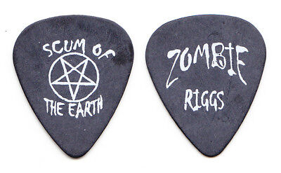Rob Zombie Mike Riggs Signature Scum of the Earth Black Tour Guitar Pick #3