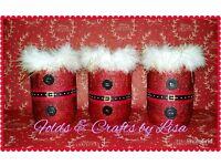 Santa/Snowman glitter lanterns