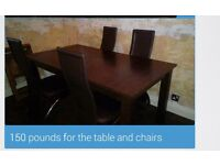 DINNING ROOM TABLE AND OTHER FURNITURE