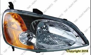 Head Lamp Passenger Side Coupe Honda Civic 2001-2003