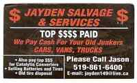 Jayden Salvage&Services Vehicle Purchasing&Transportation