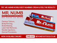 Try Mr. Numb world best numbing cream and free the results