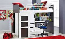 Oxford Single Bunk Bed with Workstation Mackay 4740 Mackay City Preview