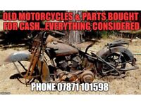 OLD MOTORCYCLE PARTS OR COMPLETE