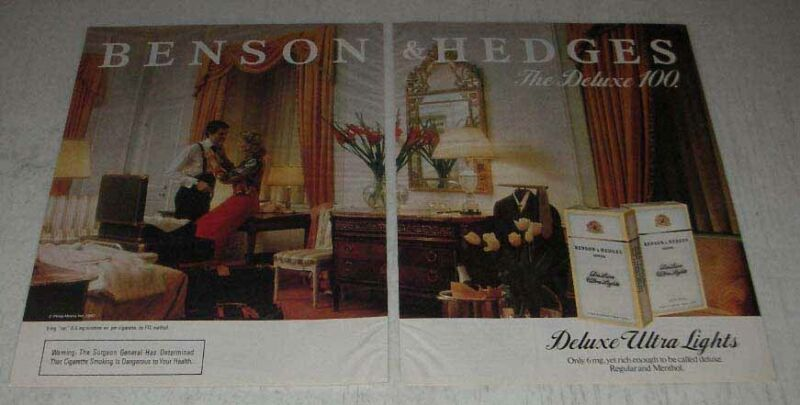 1983 Benson & Hedges Cigarettes Ad