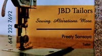 JBD Tailors ~ Sewing, Alterations and More.