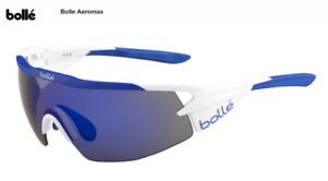 Bolle Aeromax cycling glasses (Matte White / Blue) - Brand New