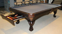 Sale $1899 New carved wood slate pool table *free accessory kit