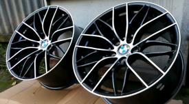 "**19"" BMW M SPORT ALLOYS STAGGERED 5X120 BMW 1 2 3 4 5 6 7 8 SERIES BR"