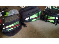 Full Oxford Kawasaki sports touring luggage.