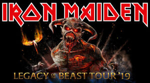 Iron maiden- Legacy tour 2019 - Montreal 5 aug- cost! 60$/each