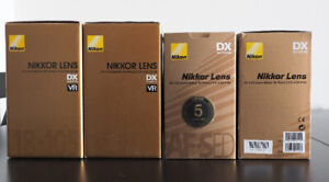 Camera and lens empty boxes