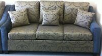 New 3 Piece Sofa Sets in Blue & Green Fabric Made In Canada