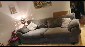 Grey 4 seater Sofa