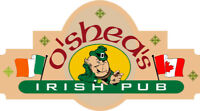 O'Shea's is hiring All Staff for the summer season!