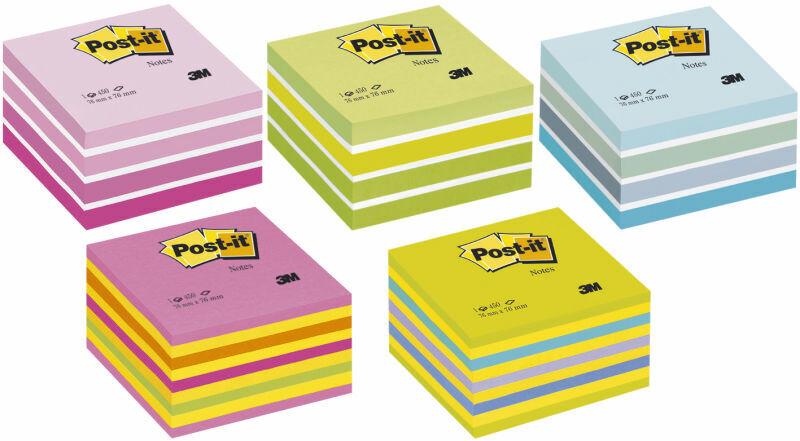 3M Post-it® Haftnotizen post notes Notiz Klebezettel 76 x 76 mm 450 Blatt