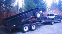 "7 ton gravel dump trailer 14""L available for your hauling needs"