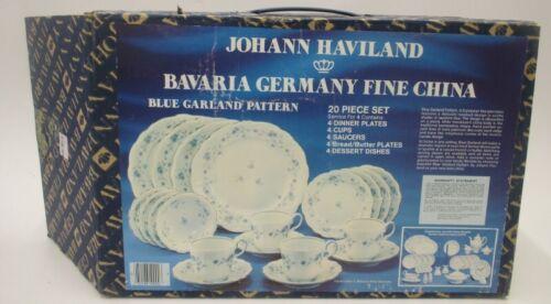 BLUE GARLAND 20 Piece Dinner Set by Johann Haviland Barvia Germany