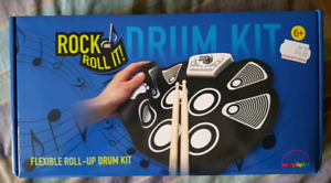 Flexible roll-up drum kit