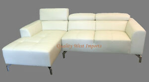 BRAND NEW Condo size Real Leather Sectional Sofa - 3 diff. color