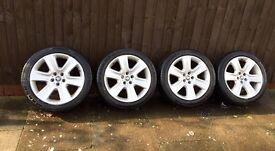 "Genuine 18"" Jaguar XF wheels..! Fits X type, XJ. (Cygnus)"