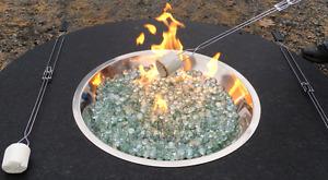 Granite stone fire pits - Natural Gas or Propane