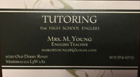 EXPERIENCED ENGLISH TUTOR- HIGH SCHOOL