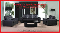**NO TAX EVENT**: TROY 4PC AIR LEATHER SOFA SET