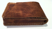 Italian Distressed Leather playing card Case