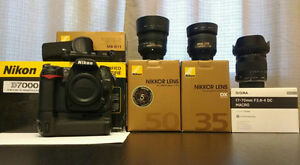 Nikon D7000 and lenses
