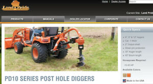 Land Pride PD10 Post Hole Digger