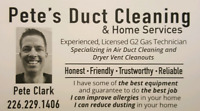 Pete's Professional Duct Cleaning Services