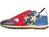 Valentino Blue and Red Star Trainers Brand New in Box