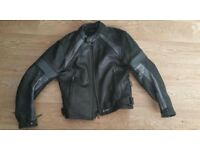 Ladies Leather Motorcycle Jacket, Size 10