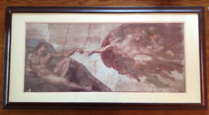 Framed Print of Michelangelo's The Creation of Adam