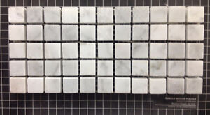 Backsplash / Mosaic Sale - 5/8'' Bianco Carrara Marble $14.50sh