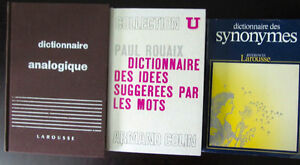 3 Books on French Vocabulary - Vocabulaire français, synonymes