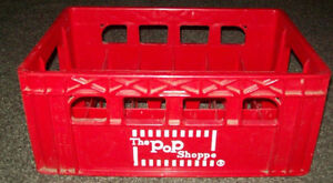 Pop Shoppe reusable bottle cases. Great for home brew